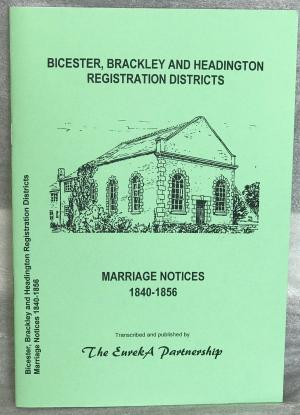Bicester, Brackley and Headington Registration Districts Marriage Notices